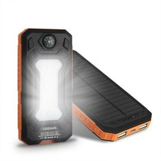 20000mAh Solar Charger Portable Solar Power Bank Outdoors Emergency with Compass #POWERBANK