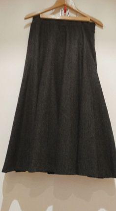 Jupe longue grise Volante évasé Caroll Paris taille 38 entièrement doublé  neuve 3767419b722
