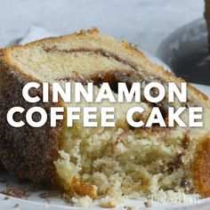 Southern Recipe - Cinnamon-Swirl Coffee Cake - Hands down, the best coffeecake you'll ever eat. Turn a simple boxed cake mix into a cinnamon swirl coffee cake that tastes like its from your favorite coffeeshop. Pound Cake Recipes, Easy Cake Recipes, Brownie Recipes, Cookie Recipes, Dessert Recipes, Cinnamon Cake Recipes, Meal Recipes, Buttermilk Pound Cake, Almond Pound Cakes