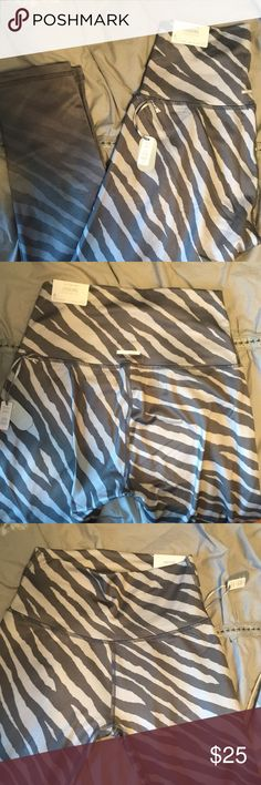 Grey Ombré Zebra Workout Leggings Athletic skinny leggings, going in an ombré from a light grey to a dark grey. High waisted and very stretchy. Super cozy with light support! Stylish and comfy! aerie Pants Skinny