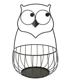 Loving this Owl Metal Basket on #zulily! #zulilyfinds