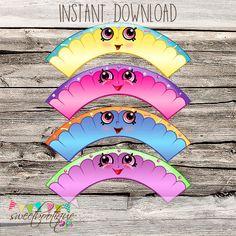 Shopkins Cupcake Wrappers - Printable - DIY - Digital File - INSTANT DOWNLOAD