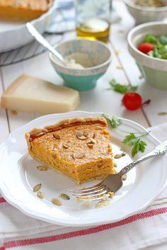 Parmesan and Pumpkin Savory Tart Vegan Recipes, Cooking Recipes, Vegan Food, Salty Tart, Food Styling, Pumpkin, Vegetarian, Lunch, Baking