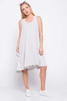 Shirr Tank Dress