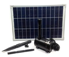 Solar Pump and Fountain - 340 gph - 15w - Pond and Garden Depot