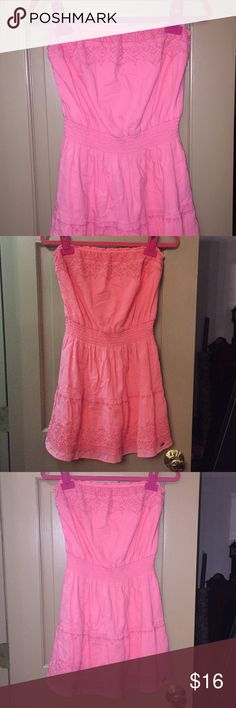 1fa0471679a Melon pink hollister strapless tube top dress jpg 236x708 Hollister cute  tube top dresses