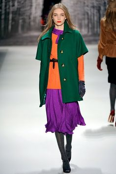 Milly Fall 2011 Ready-to-Wear Fashion Show Runway Fashion, High Fashion, Fashion Show, Fashion Outfits, Fashion Design, Colourful Outfits, Colorful Fashion, Color Terciario, Colour Combinations Fashion