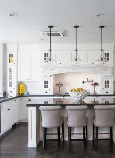 The perfect white kitchen cabinets! This article has amazing details for creating a white kitchen! overthebigmoon.com!