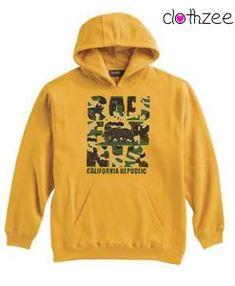 California Republic Yellow Hoodie