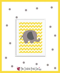 Yellow sunshine elephant chevron poster by thetickledpinkfox Pink Fox, Cute Poster, Chevron, Sunshine, Elephant, Posters, Handmade Gifts, Yellow, Illustration
