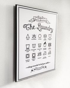 Guide to Procedures Laundry 11x14 print by letteredandlined