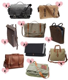 Time to head back to school! Or at least back to a fall frame of mind. Dapper Stuff: 9 Messenger Bags to Take You Back to School