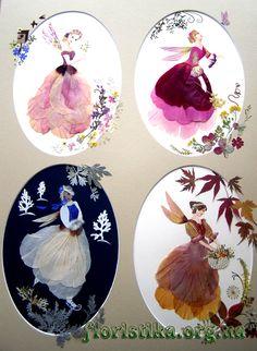 Романтика Dried And Pressed Flowers, Pressed Flower Art, Leaf Crafts, Flower Crafts, Cloth Flowers, Diy Flowers, Dance Paintings, Flower Festival, Art N Craft