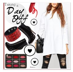 """Taking a day off"" by paculi ❤ liked on Polyvore featuring mode, Lulu Guinness en nastydress"