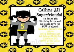 Free Birthday Cards: Batman birthday Party Ideas | Batman Birthday Party - Batman printable cards invitations