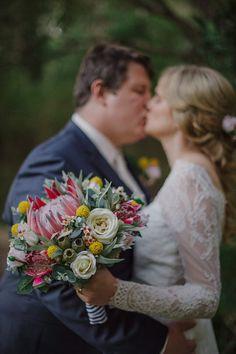 Rustic bridal bouquet bridesmaid bouquet. King by LaPlumeDeFleur