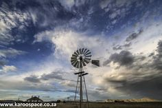 Listen to the song of windmills spinning and sighing. Off The Grid, Windmills, Finding Peace, Campers, Wind Turbine, Spinning, South Africa, Adventure, Space