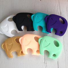 Elephant Silicone Baby Teether - $14 - www.milkandbaby.com #milkandbaby