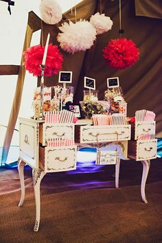 Sweet stations are a necessity! The adults at our wedding were at the sweeties more so than the children! We had a vintage one.