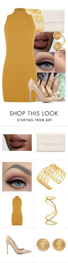 """""""Everywhere I go, I see love turnin' into somethin' it's not"""" by yazbo ❤ liked on Polyvore featuring Gorjana, Mura, WearAll, Maison Margiela, Gianvito Rossi and Versace"""
