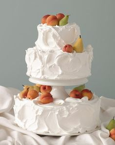 "Wedding cake inspired by ""The Basket of Apples,"" by  painter Paul Cezanne, circa 1893."