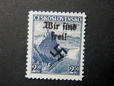 Local Deutsches Reich WW II Sudetenland Occup overprint Rumburg Mi