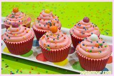 Cupcakes de chicle . . . con sorpresa!! | Sugar Mur