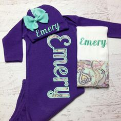 b52614ff3 Baby girl coming home outfit, Newborn gowns girl, Newborn gown and hat set,  Hospital Coming home outfit, Baby girl coming home, Purple gown