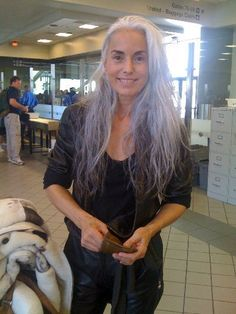 Yasmina Rossi  Beautiful nearly 60 y/o model.  Her secret? Organic whole foods, no stimulants (alcohol, caffeine, or smoking), and a youthful outlook.