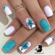 you should stay updated with latest nail art designs, nail colors, acrylic nails, coffin nails, almo Spring Nail Art, Nail Designs Spring, Spring Nails, Beautiful Nail Designs, Cute Nail Designs, Acrylic Nail Designs, Gel Nagel Design, Nagel Hacks, Butterfly Nail Art