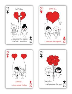 "Natalia Silva is raising funds for ""Love is."" Playing Cards (Canceled) on Kickstarter! ""Love is."" is a beautiful deck of playing cards inspired by Love. Valentines Day Drawing, Custom Playing Cards, Love Doodles, Diy Crafts Hacks, Love Cards, Valentine Crafts, Cute Drawings, Doodle Art, Invitation Cards"