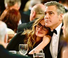 Oh! This photo, this is...lovely. Julia Roberts and George Clooney at the 2013 Britannia Awards