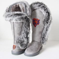 Women's Chicago Bears Cuce Navy Blue Champions Boots
