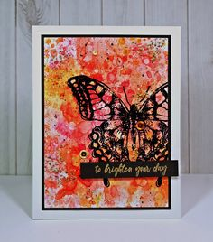 Greyt Paper Crafts: Getting a Little Holtz-Like' Craft Stick Crafts, Paper Crafts, Encouraging Thoughts, Tim Holtz Distress Ink, Texture Paste, Butterfly Cards, Try Something New, Simon Says Stamp, Ink Pads