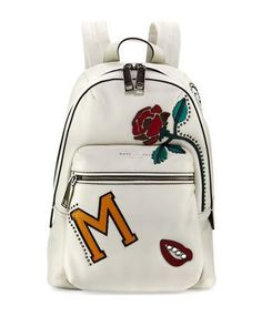 MJ+Collage+Biker+Leather+Backpack,+Dove/Multi+by+Marc+Jacobs+at+Neiman+Marcus.