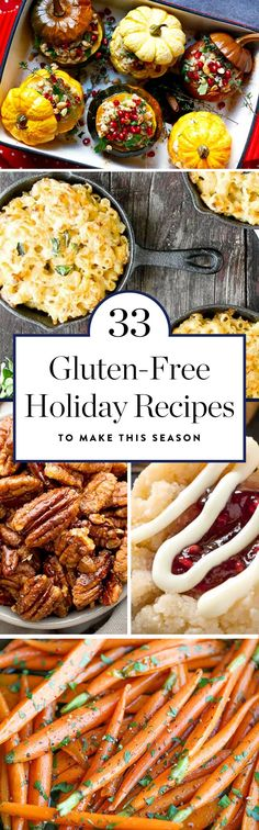 Here are 33 recipes (including cake, cookies and stuffing) that prove your gluten-free holiday can be extremely delicious. #glutenfree #glutenfreerecipes #holidayrecipes