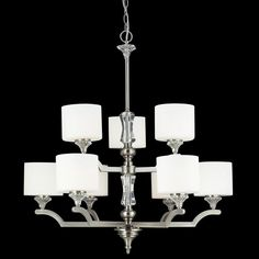 Z-Lite 2000-9 Avignon Collection Brushed Nickel Finish 9 Light Chandelier