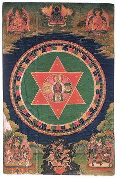 Vajravarahi Mandala, Tibet, 19th c.  Tantric tradition.