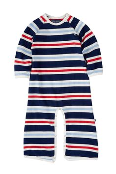 Multi Stripe Jumpsuit (Baby Boys) by Toobydoo on @nordstrom_rack