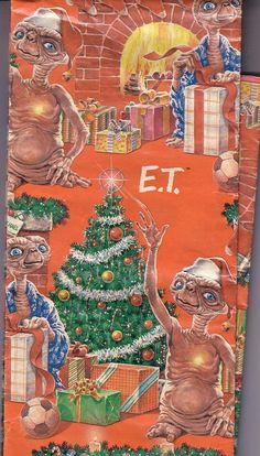"E.T. Vintage Christmas Wrapping Paper.  ""Santa"" used this to wrap my presents in December 1982!"