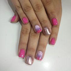 Uñas... I love pink  #BautySalon
