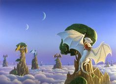 Dragonriders of Pern Ruth the white dragon in the fore ground