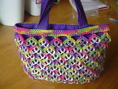 Purple PullTab Crochet Medium Tote by PopTopLady on Etsy, $40.00