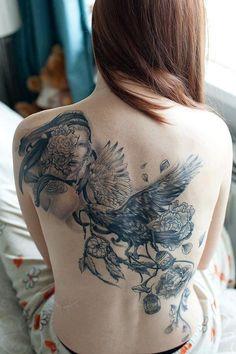 ladies back tattoos (16)