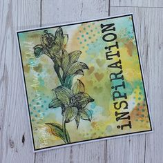 Designed by Lorre-Anne Archibald Dt Post, Distress Oxide Ink, Bee, Lily, Crafty, Projects, Cards, Inspiration, Design