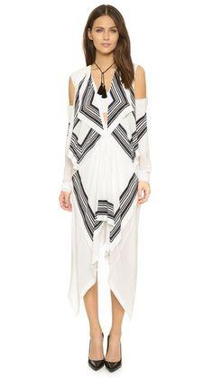 KITX Placement Print Squares Dress