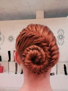 French Fishtail Braid Pinned up