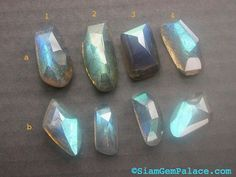 LABRADORITE Tavernier Antique Cut Cabochons High DoME by gempalace, $24.99