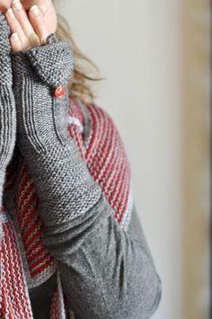 Jolies mitaines au tricot