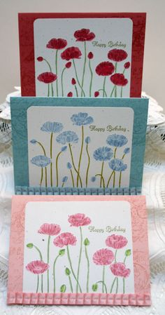 Stampin Up!  Pleasant Poppies Trio